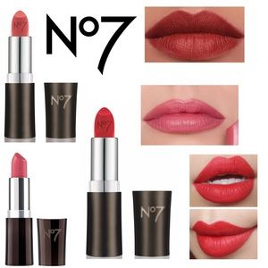 3pcs No 7 Boots Moisture Drenched Creamy  Lipstick